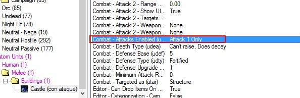 Detonador para añadir o quitar ataque? Castil12