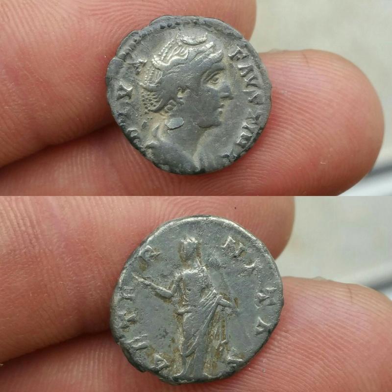 Denario de Faustina I. AETERNITAS. Juno de pie a izq. Ceca Roma. Picsar10