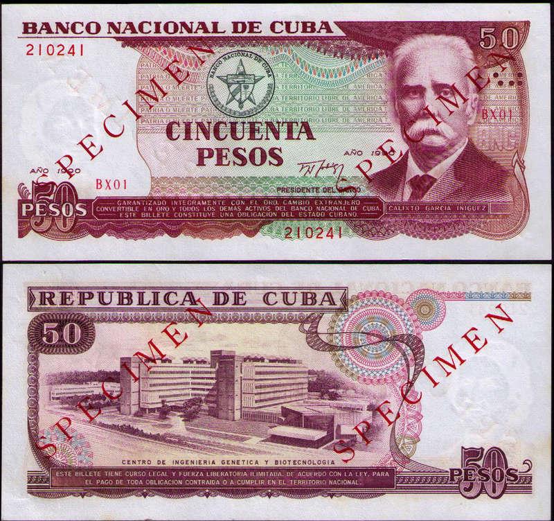 Billetes de reemplazo, no españoles Cuba_110