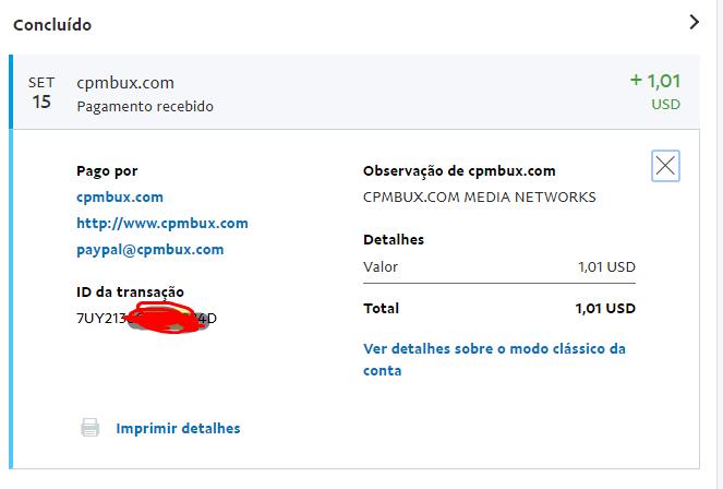 [Provado] Cpmbux - Site com pagamento diário e sem fees! Lucro de U$3.29 Pagame10