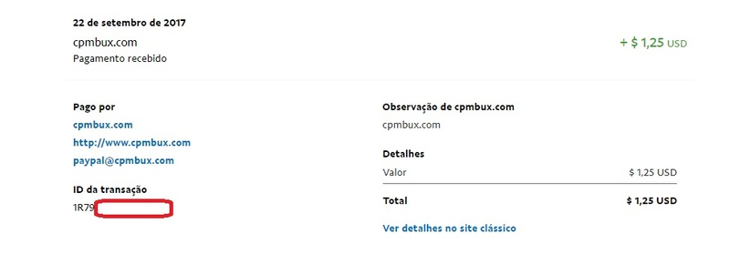 [Provado] Cpmbux - Site com pagamento diário e sem fees! Lucro de U$3.29 Pagame12
