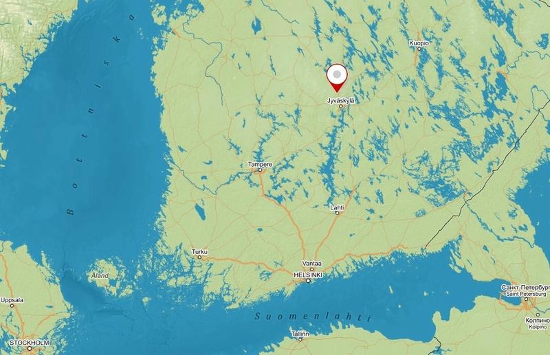 "Zrakoplovni muzej u Tikkakoskiju, ""Suomen Ilmavoimamuseo"" Mapa11"