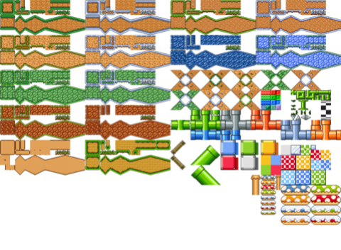 Super Mario Bros Odyssey Tiles