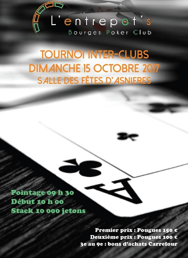 Tournoi inter-clubs du 15/10 Bourges Poker Club Affich11