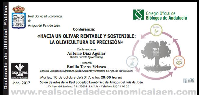 «HACIA UN OLIVAR RENTABLE Y SOSTENIBLE: LA OLIVICULTURA DE PRECISIÓN» Confer10