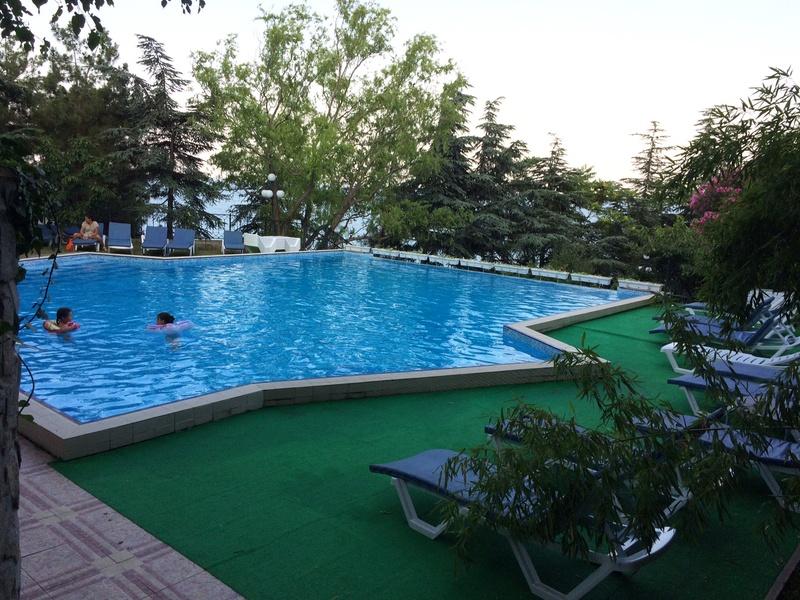 Это вид с веранды ресторана. Большой бассейн для взрослых, маленький (ближний) для мелкотни. Img_0414