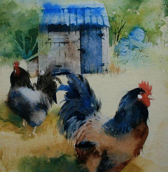 Les animaux peints à l'AQUARELLE - Page 9 490afa10