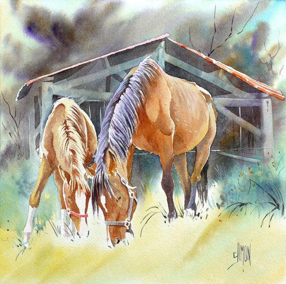 Les animaux peints à l'AQUARELLE - Page 9 Aabacd10