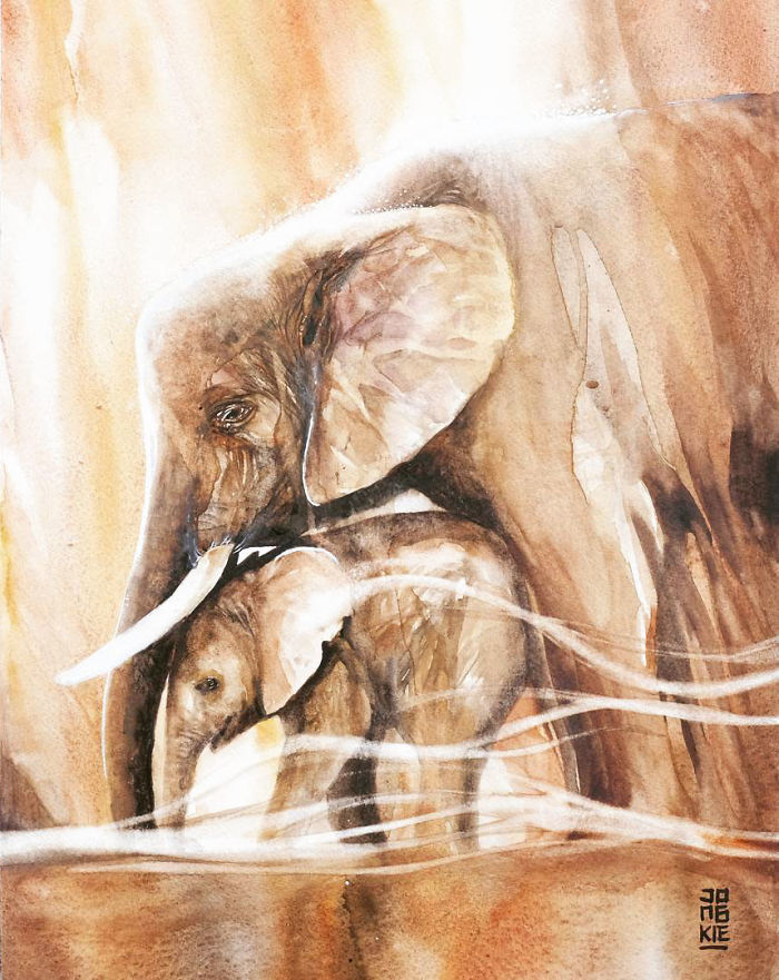 Les animaux peints à l'AQUARELLE - Page 8 Lespri10