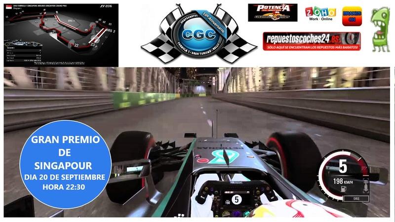 Confirmacion asistencia entrenamientos oficiales GP de Singapour Singap11