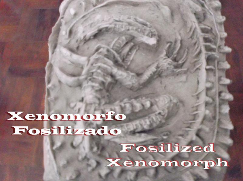 Alien en yeso fosilizado (posteriormente alambre) Xeno_f10
