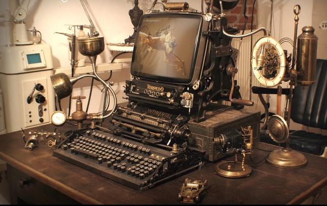 "Les Zippo ""Steampunk"" (custom) Mac10"