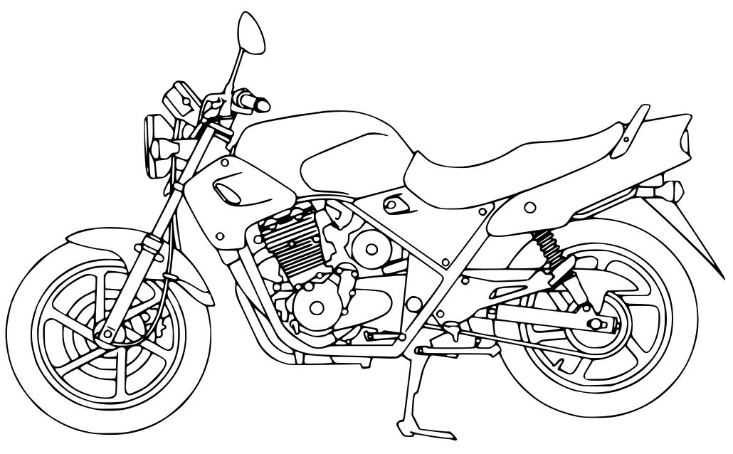 For graphical work - a CB500 in vector graphics Vector10