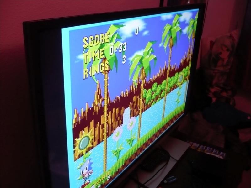 Bande verticale sur les jeux Jap Megadrive en 60 Hz 110