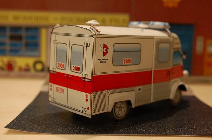 """Citroën type H """"Ambulance Agglomération de Bruxelles"""" 900-310"""