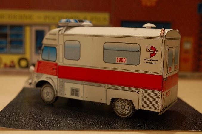 """Citroën type H """"Ambulance Agglomération de Bruxelles"""" 900-410"""