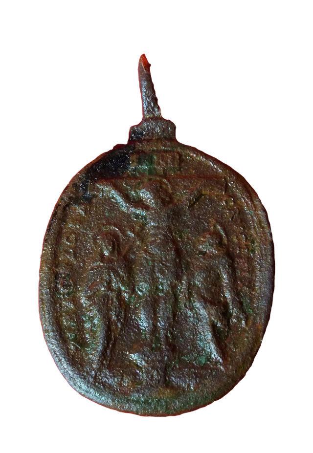 Crucifixión con la Santa Cruz de Biberbach / Cinco Santos de las Catacumbas romanas, S. XVII ( R.M.SXVII-O449)  212