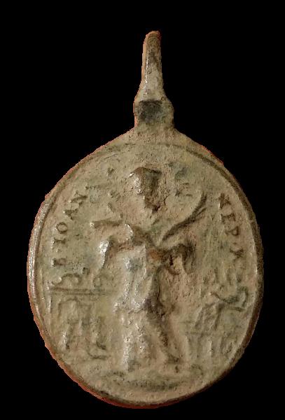 Santa Maria de Sastin (Sedembolestná Panna Mária)/ San Juan Nepomuceno, S. XVIII(MAM) 212