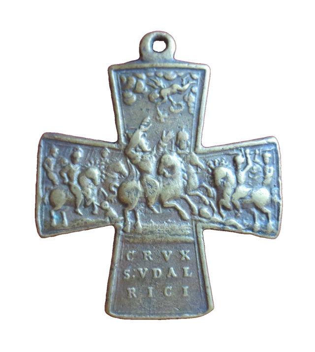 Cruz San ULRICO con la ciudad de Augsburgo (F. /Clase II) [Pec036/S-XVIII] 710