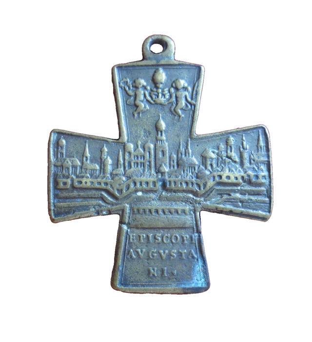 Cruz San ULRICO con la ciudad de Augsburgo (F. /Clase II) [Pec036/S-XVIII] 7b10