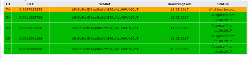 [Provado] BtiCoin Radio - Sekundensparer! Payout10