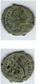 AE3 de Constancio II. FEL TEMP REPARATIO. Soldado romano alanceando a jinete caído. Sin_ty11