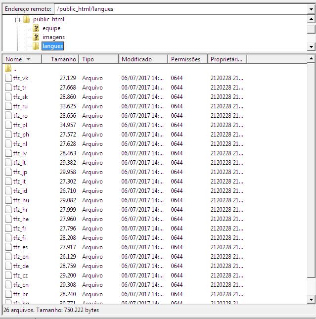 Pasta de idiomas não está funcionando? Screen12