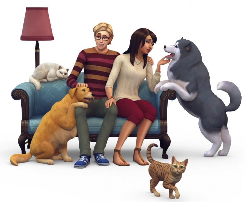 The Sims 4 Dogs and Cats EP. (BOXART AND RENDER) 110