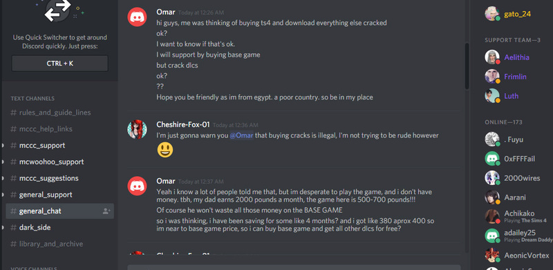 Debate between a legit game owner, and me (cracked game) on MCCC discord!!!! Bandic14