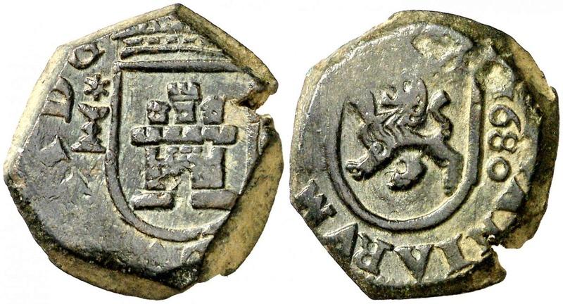 2 Maravedís de Carlos II , Ceca de Cuenca, 1680. 31862310