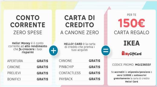 HELLO BANK regala CARTA REGALO IKEA € 200 [promozione scaduta il 27/09/2018] Cattur19