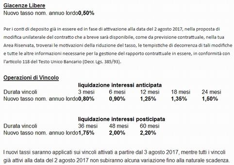 APERTURA CONTO FORTE (BANCA MEDIOCREDITO FVG) Contof10