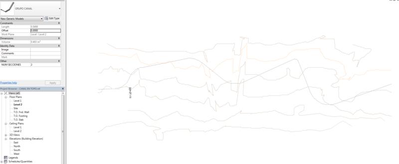 Modelar canal trapezoidal sobre topografía Topo10