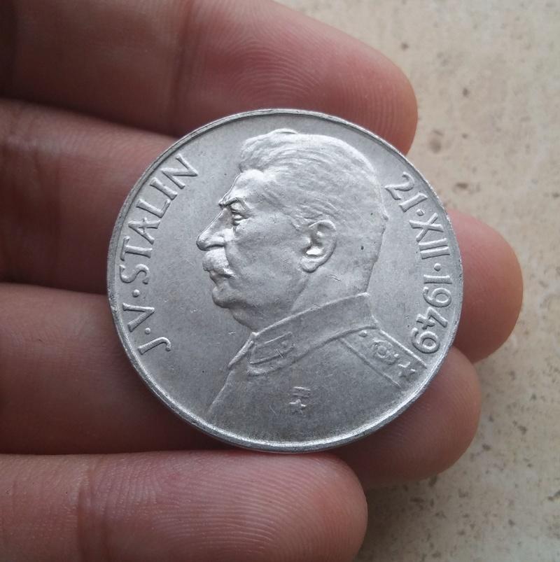 100 Coronas 1949 Checoslovaquia. Iosif Stalin 20170913