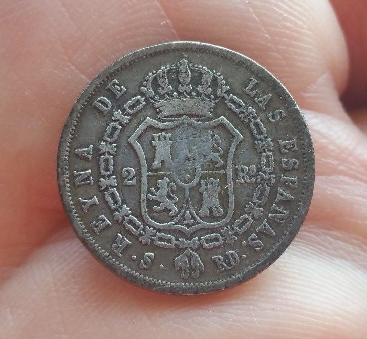 2 reales 1845. Isabel II. Sevilla ¿Es buena? 210