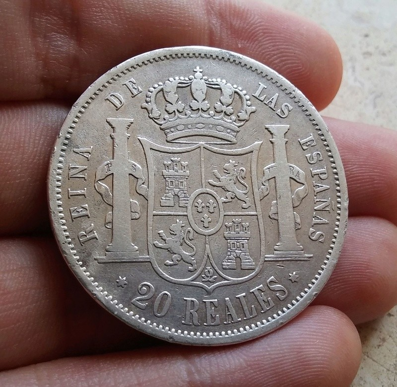 20 reales 1854. Isabel II. Madrid Clipbo11