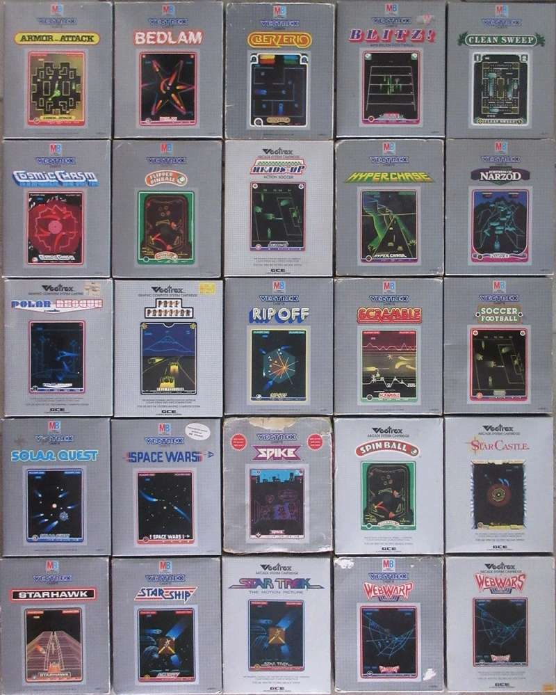 La console VECTREX - MB (Milton Bradley) 25jeux11