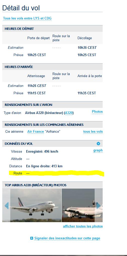 faire des plans de vols IFR suivant les vrais vols 1311