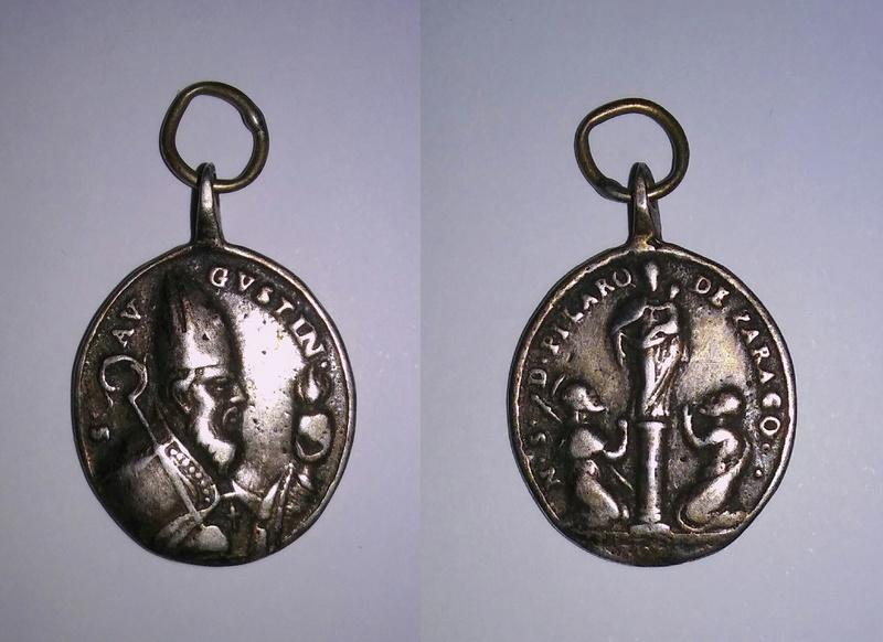 San Agustín / Virgen del Pilar [R.M. SXVIII-O349](MAM) 20170715