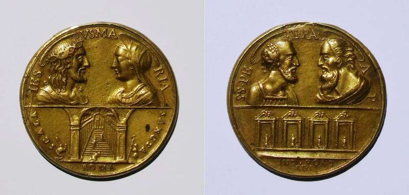 Jesus-Maria-Escala Santa / Santos Pedro y Pablo-4 basílicas romanas (R.M. SXVIII-C135) 20170721