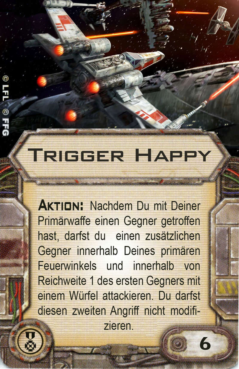 """Selbstgebastelte Upgradekarte """"Trigger Happy"""" Trigge10"""