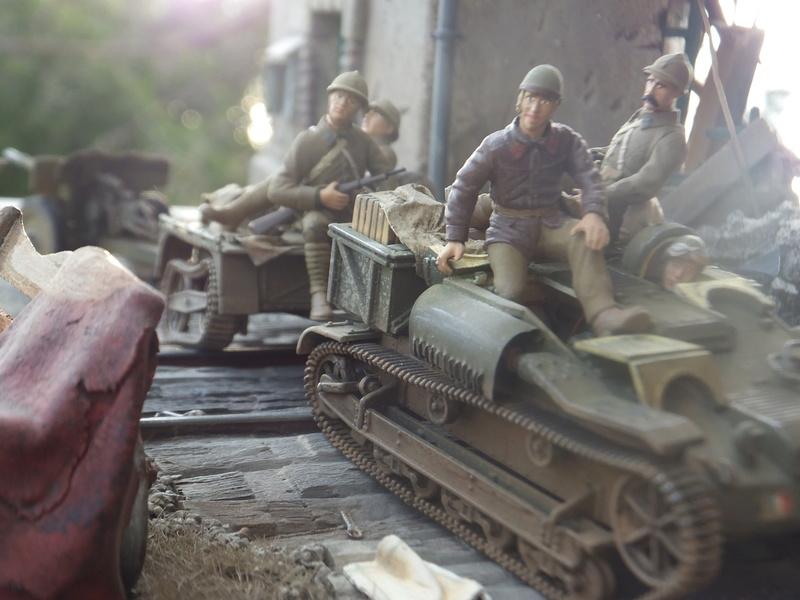 """Picon avec bière, juin 1940,-[mirage]Renault UE,[heller] canon de 25 mm 1/35 """"FIN"""" Dscf8919"""