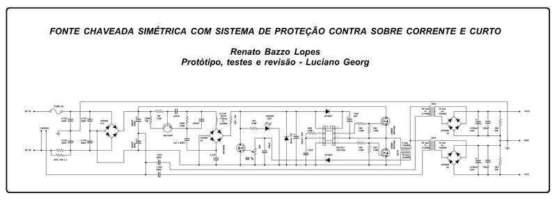 FONTE CHAVEADA 800W COM PROTEÇÃO CONTRA CURTO - IR2153 Esquem11