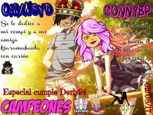 ESPECIAL DOMINO CUMPLE DERLY94 05-08-17 CAMPEONES CONNYBP Y OIRAMSYD Campeo11