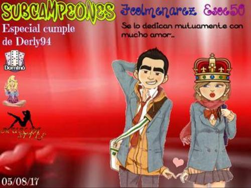 ESPECIAL DOMINO CUMPLE DERLY94 05-08-17 SUBCAMPEONES ESOE50 Y FCOLMENAREZ Subcam10