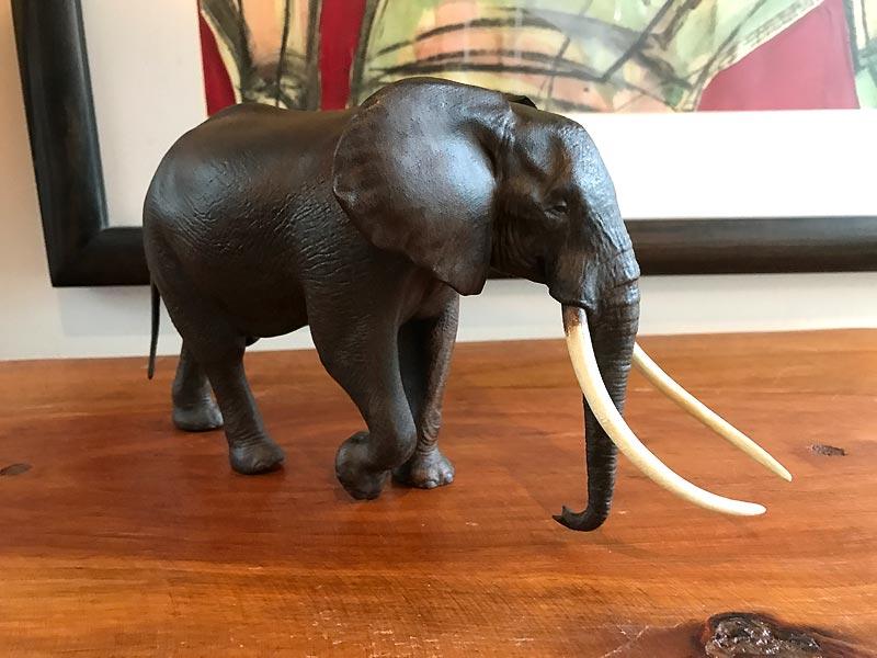 Large Bull African elephant replica Shadow11