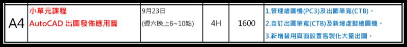 [小單元課程]AutoCAD 出圖發佈應用篇 027810