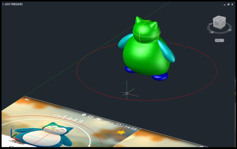 [教學]AutoCAD 3D 卡比獸建模步驟分享 1011