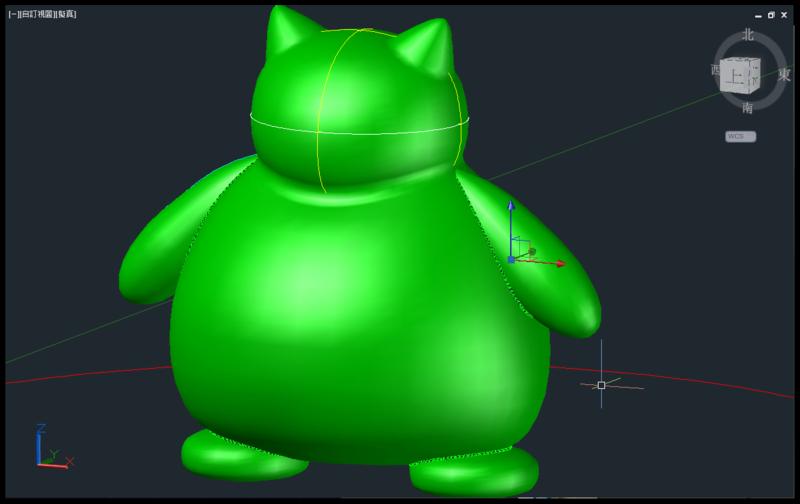 [教學]AutoCAD 3D 卡比獸建模步驟分享 1111