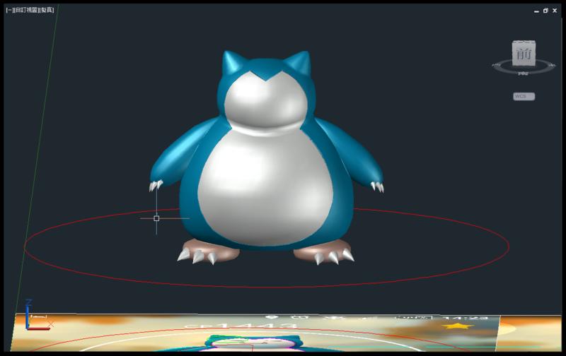 [教學]AutoCAD 3D 卡比獸建模步驟分享 1511